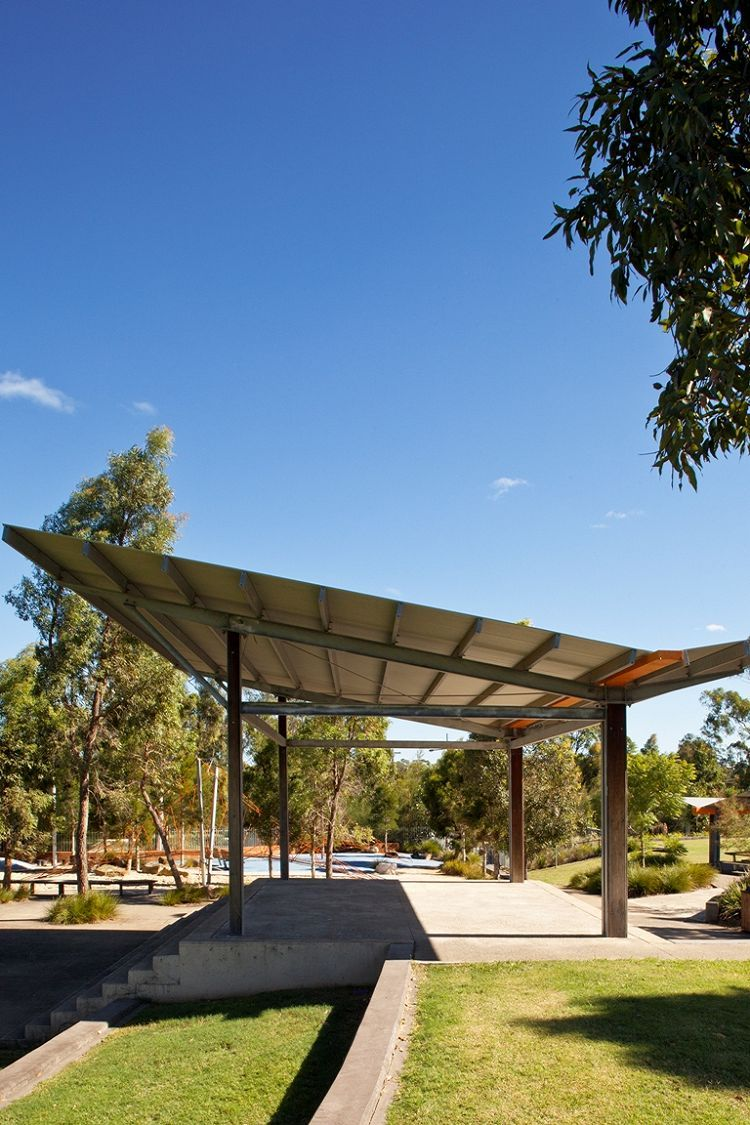 Park Shelter Designs : Linear park ropes crossing picnic shelters fleetwood