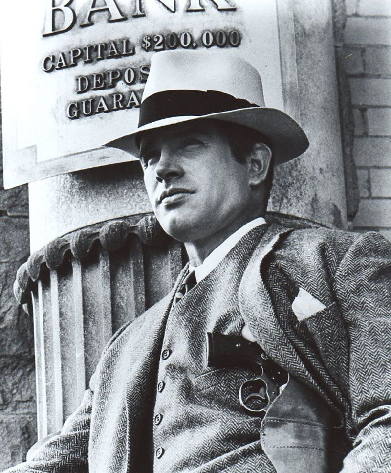 "Warren Beatty en ""Bonnie & Clyde"", 1967"