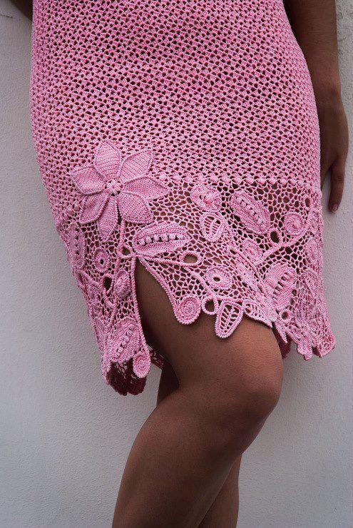 beautiful border for crochet skirt | háčkované odevy | Pinterest ...