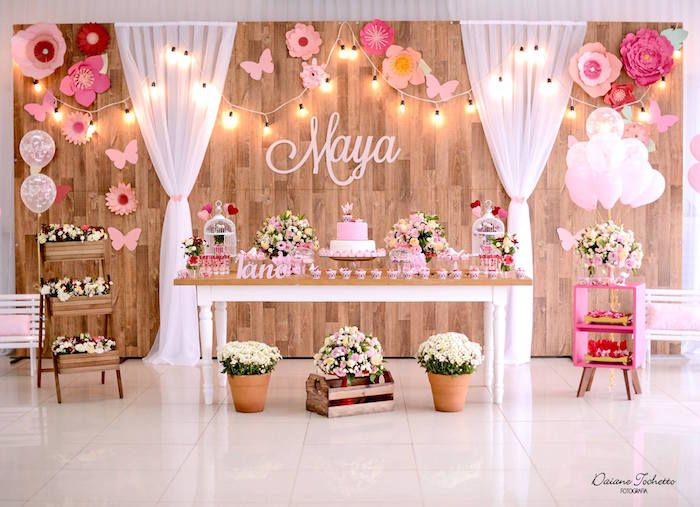 Flutter By Butterfly Garden Party | Deco bapteme, Decos et ...
