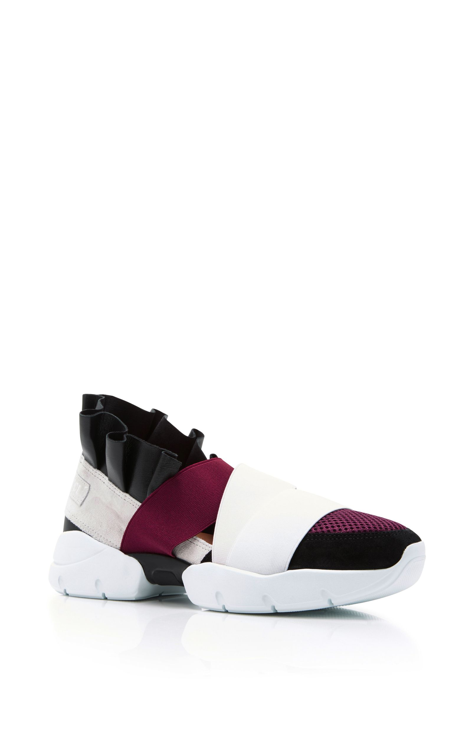 5448ee0e996c EMILIO PUCCI Leather And Elastane Sneakers.  emiliopucci  shoes  sneakers