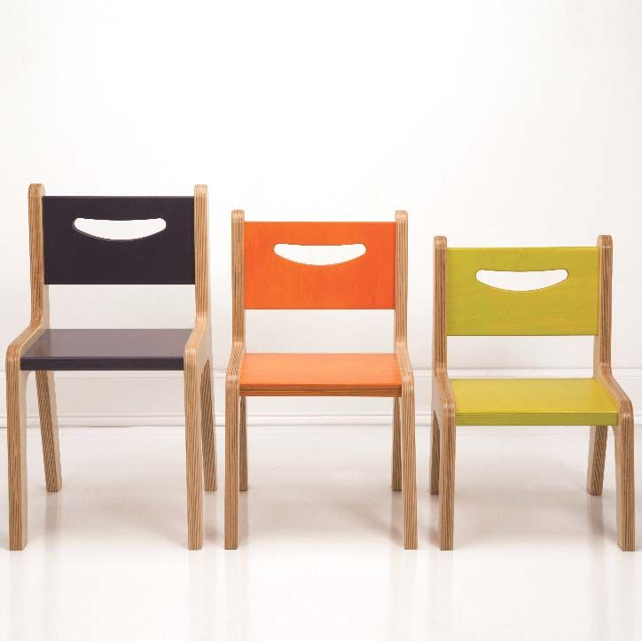 Birch Wood Preschool And Toddler Chairs With Designer Painted Seat
