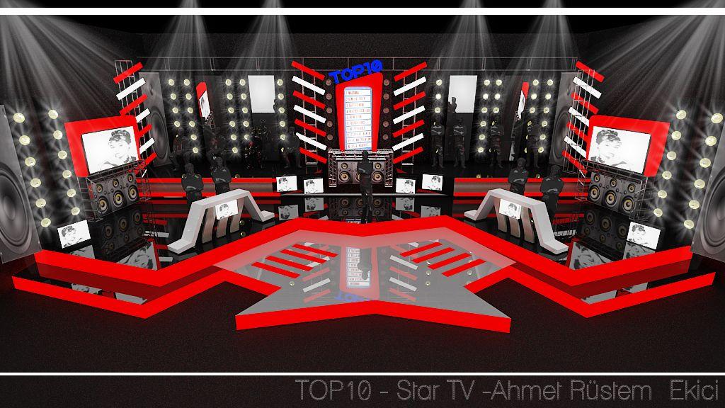 """Music Show - Contest  TV Set Design  """"Petek Dinçöz ile 10 Numara """"  Dekor Tasarımı : Ahmet Rüstem Ekici"""