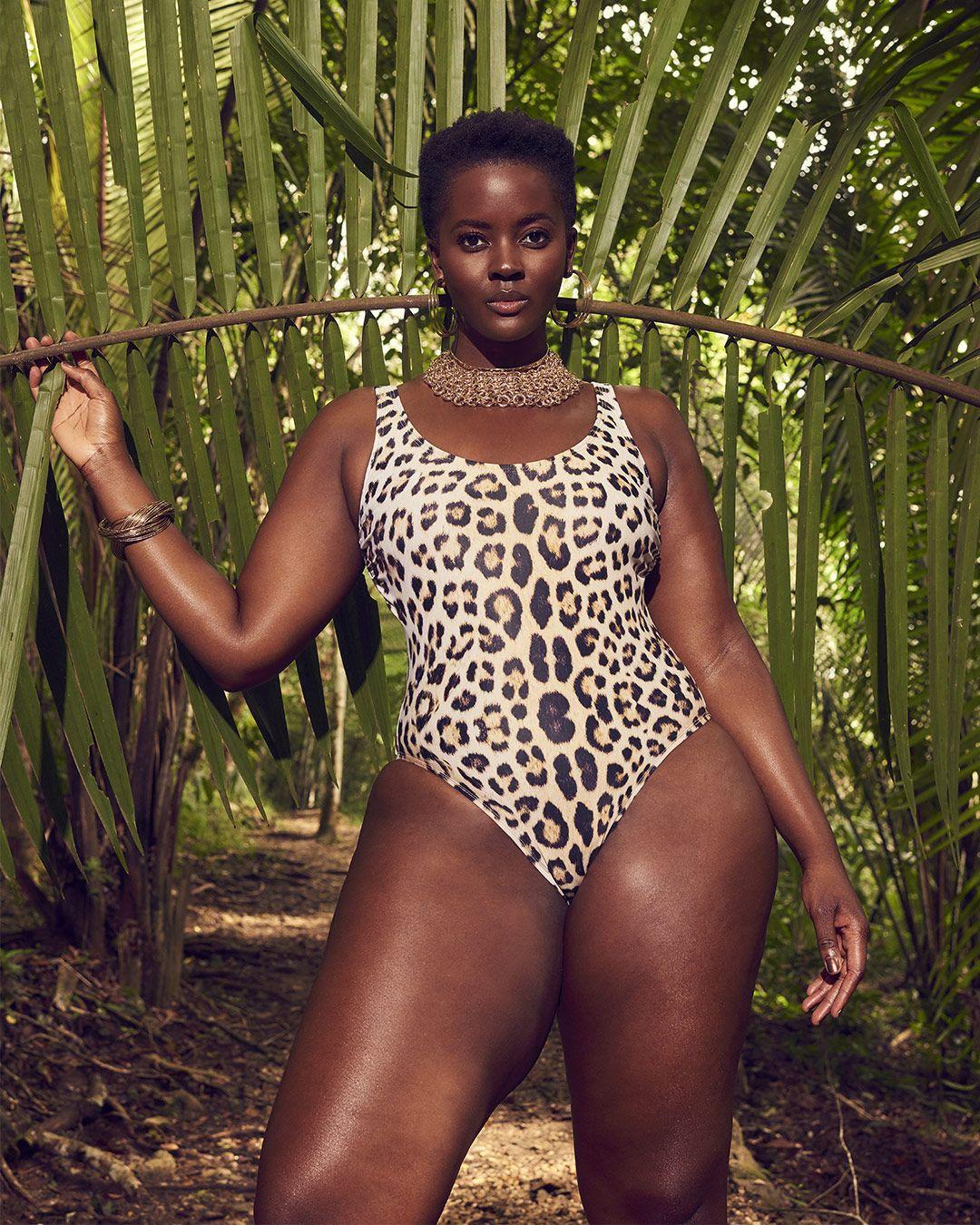 e094c48ae2a8 Philomena Kwao giving us her best power pose in the GabiFresh Savannah  Swimsuit.