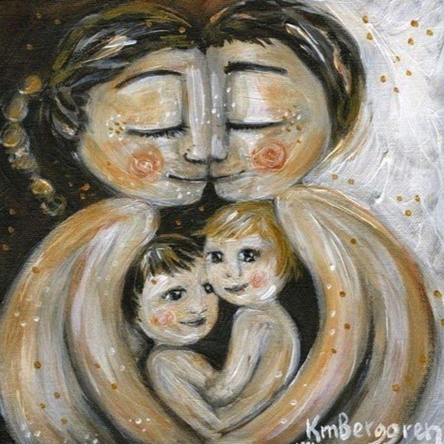 картинка мама с двумя сыновьями рисунок кто хотел мне