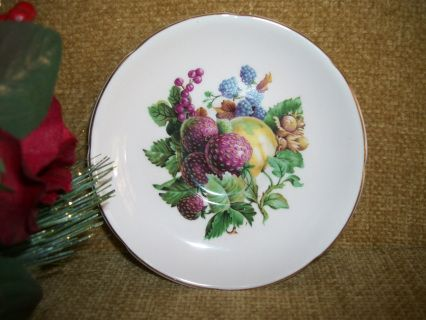Royal Grafton Bone China Small Decorative Plate Beautiful Assortment of Berries on Light Pink Background Marked & Royal Grafton Bone China Small Decorative Plate Beautiful Assortment ...