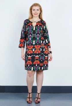 wonderful butterfly print double silk tunic/dress from anna scholz