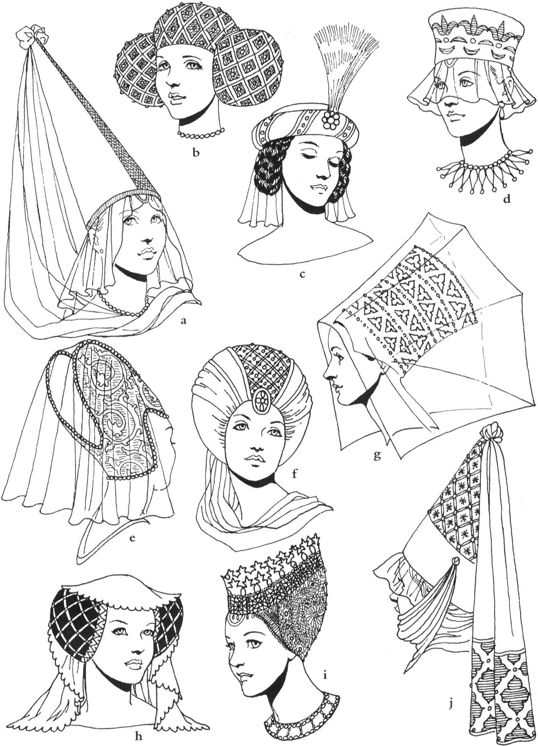 Womens Headdress 15th C Medieval Fashion Historical Hats Medieval Hats