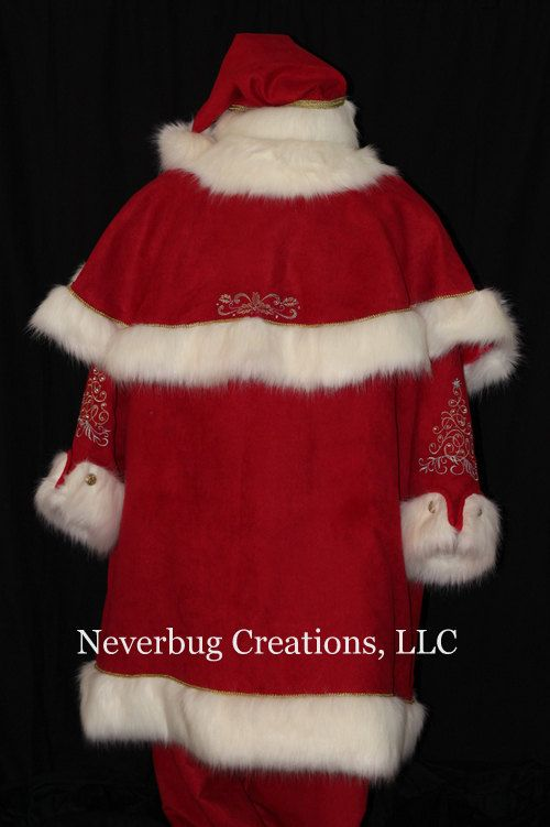 Custom Victorian Santa Costume Each Is One Of A Kind Santa