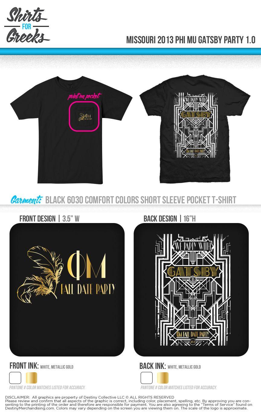 T shirt design richmond va - Phi Mu Formal Gatsby Tshirt Designs Phimu Shirtsforgreeks