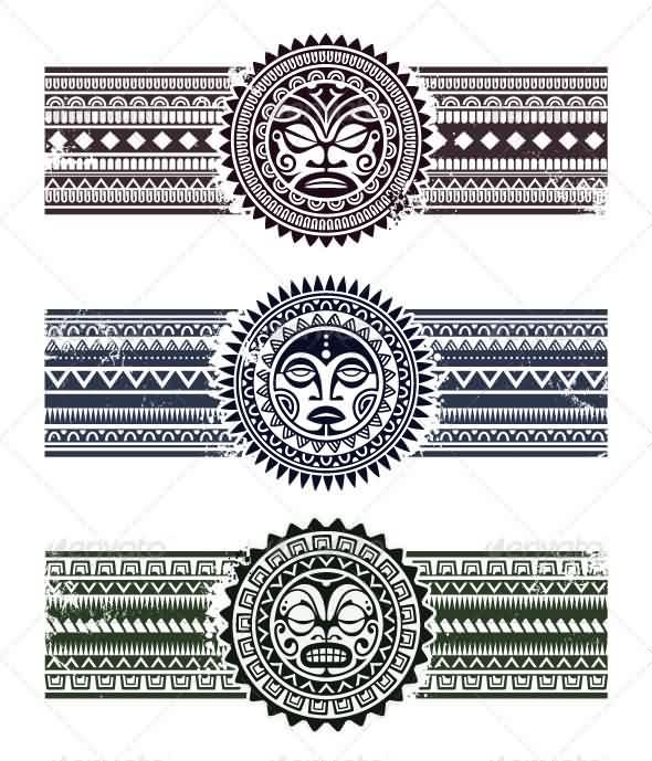 Polynesian Armband Tattoos Set Tattoo Maori Style Tattoo