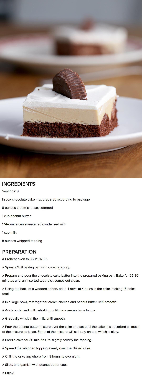 Chocolate-Peanut Butter Poke Cake. #chocolatepeanutbutterpokecake Chocolate-Peanut Butter Poke Cake. #chocolatepeanutbutterpokecake