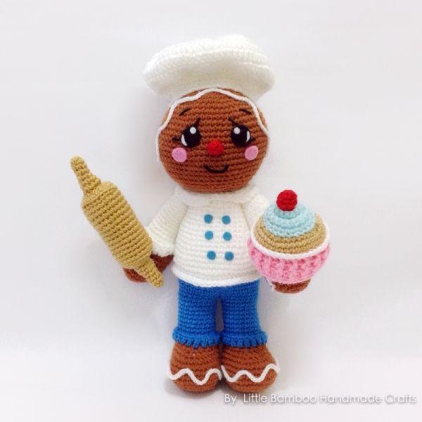 Gingerbread Baker Amigurumi Pattern   Amigurumi - 3   Pinterest ...