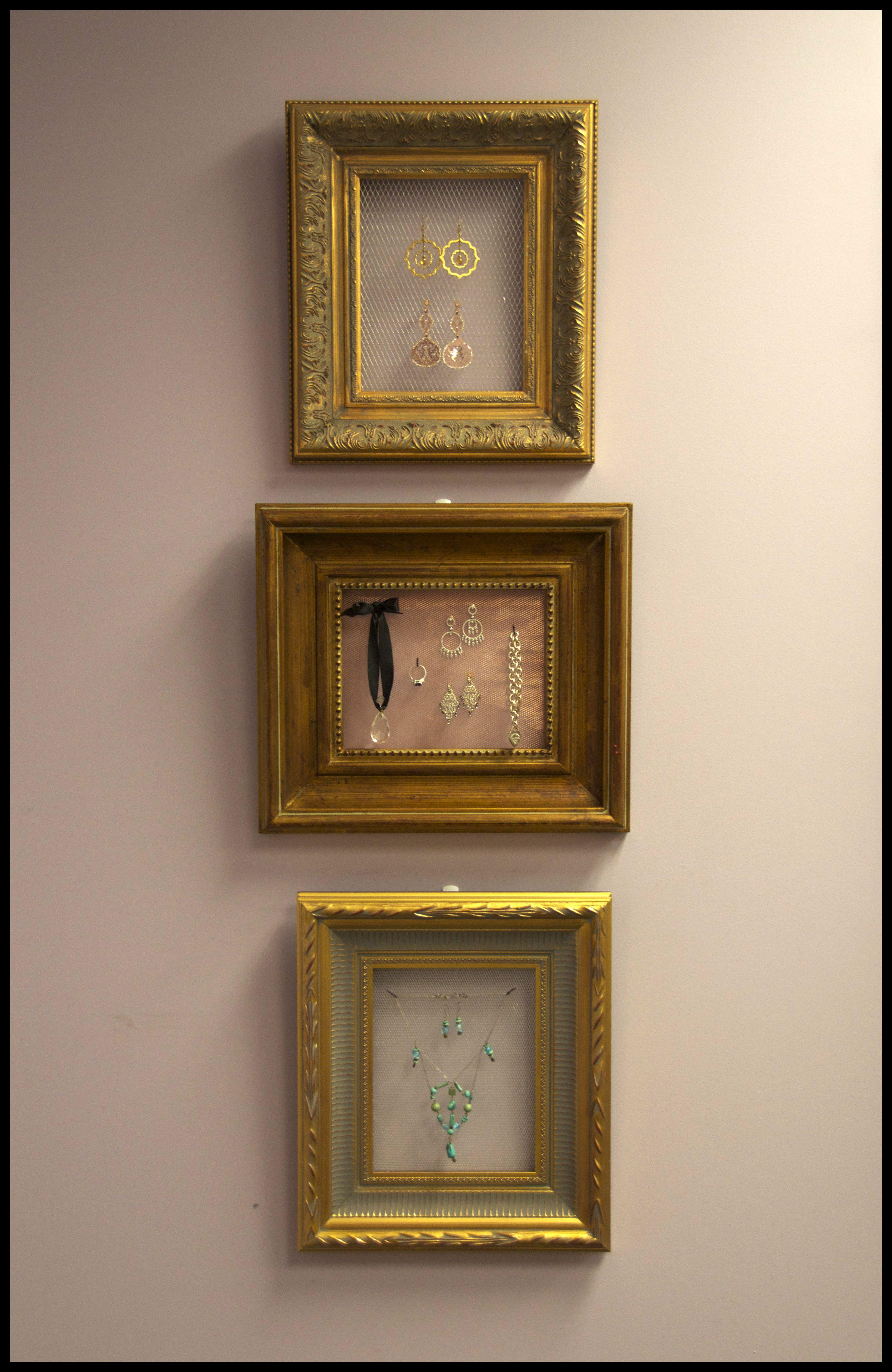 Custom Diy Jewelry Display Frames For Mom