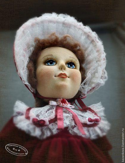 Коллекционные куклы ручной работы. Реплика антикварной куклы. Душевные штучки от Казанковой Елены. Ярмарка Мастеров. Шляпка, бархат
