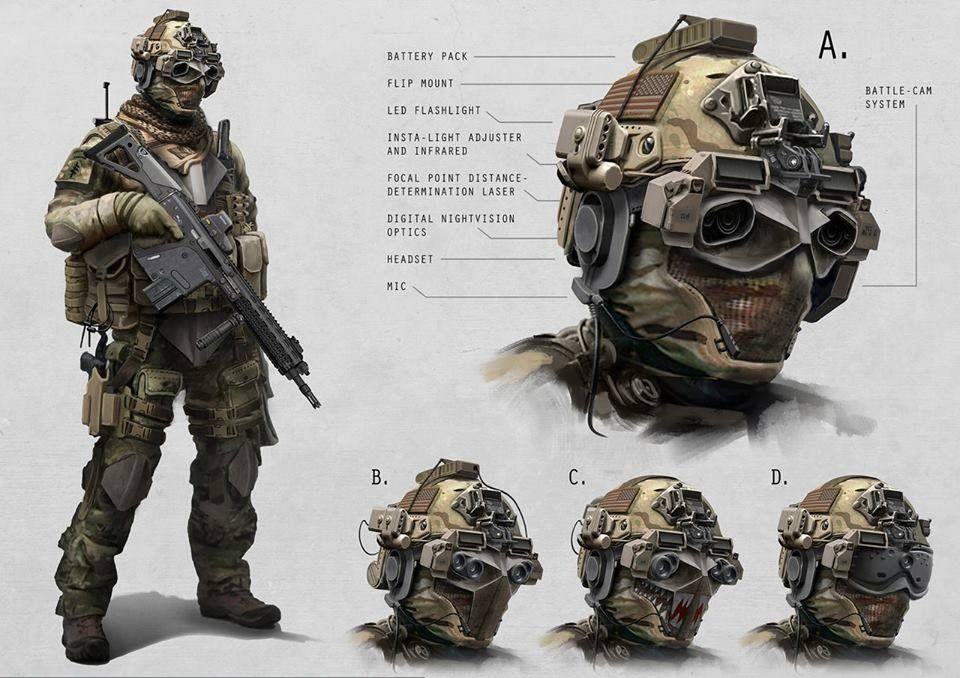 concept military helmet