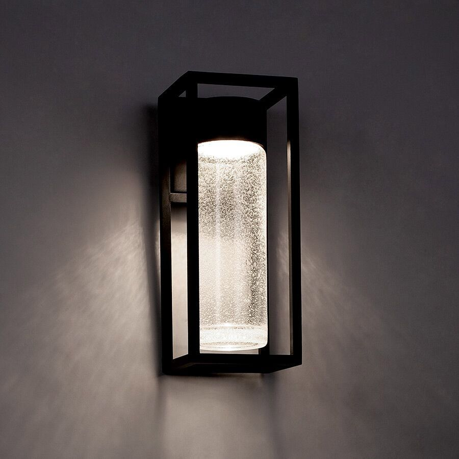Structure Outdoor Wall Light Is Available In A Black Finish With Clear Seeded Glass Availa Led Outdoor Wall Lights Modern Outdoor Lighting Exterior Wall Light