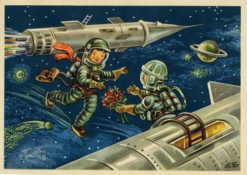 открытки на день космонавтики советские открытки сегодня разбираться, что