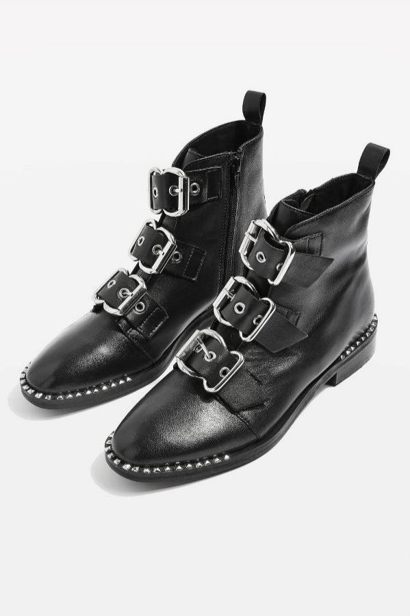 Botki Motocyklowe Topshop 89 Funtow Boots Buckle Ankle Boots Western Boots Outfit