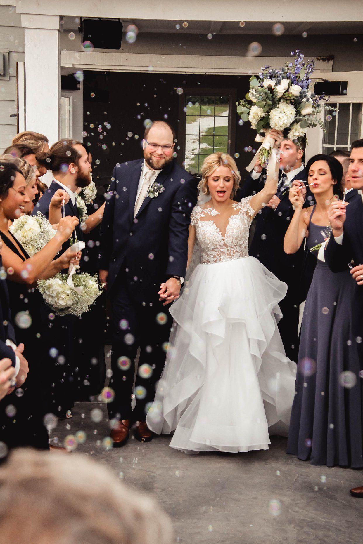 Bubble wedding send off Venue The Sycamore Winery