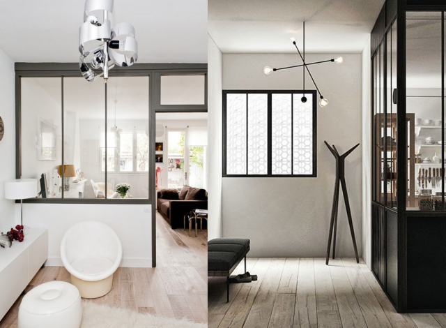 20 inspirations pour une cloison verri re salons for Decoration interieur style atelier