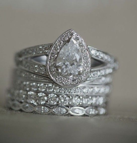 rocks on rocks on rocks engagement ring eye candy