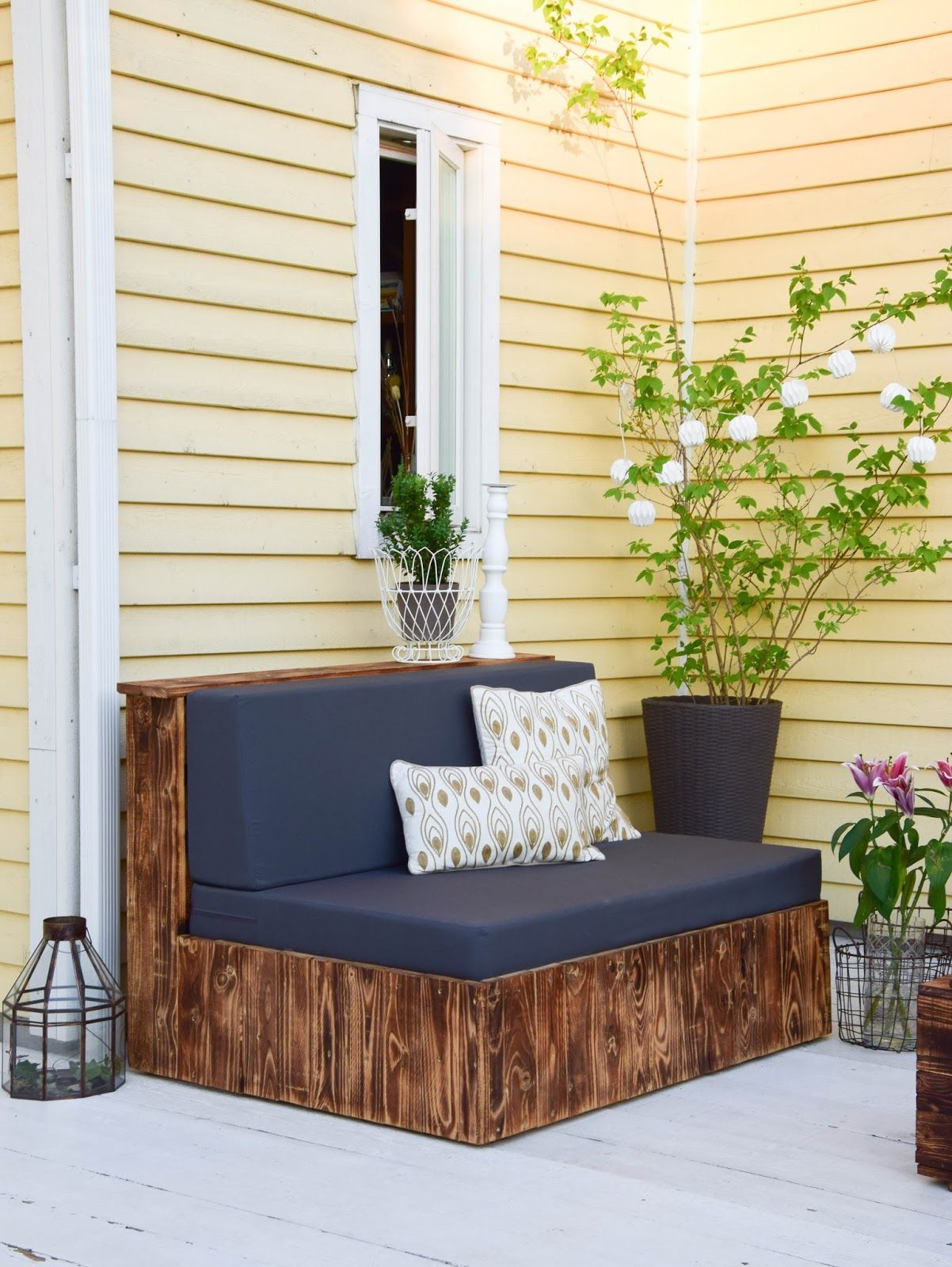 Perfekt Diy Paletten Sitzmöbel Für Terrasse Dekoidee Palettenmöbel Gestaltung Deko  Garten