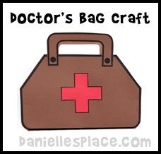 Doctor bag craft for kids from for Doctor bag craft template