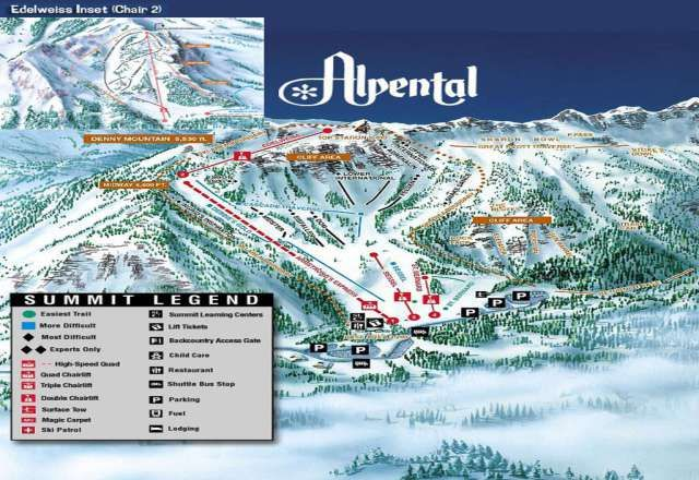 Alpental Trail Map Skiing Skiing Mountains Cascade Mountains