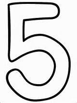 Número cinco, 5. Para imprimir, decorar, pintar, dibujar.