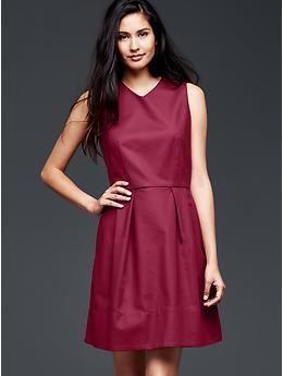fd3d669154c V-neck fit   flare dress