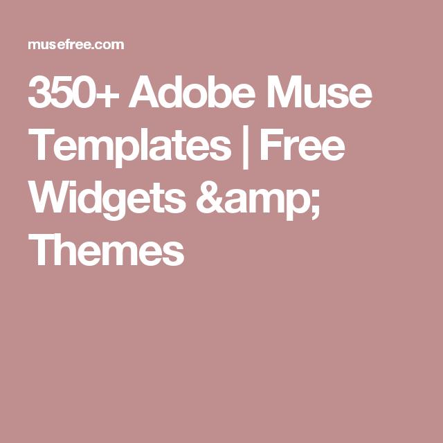 350 Adobe Muse Templates