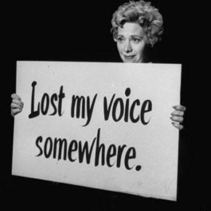 Don't be invisible. Your voice always needs to be heard