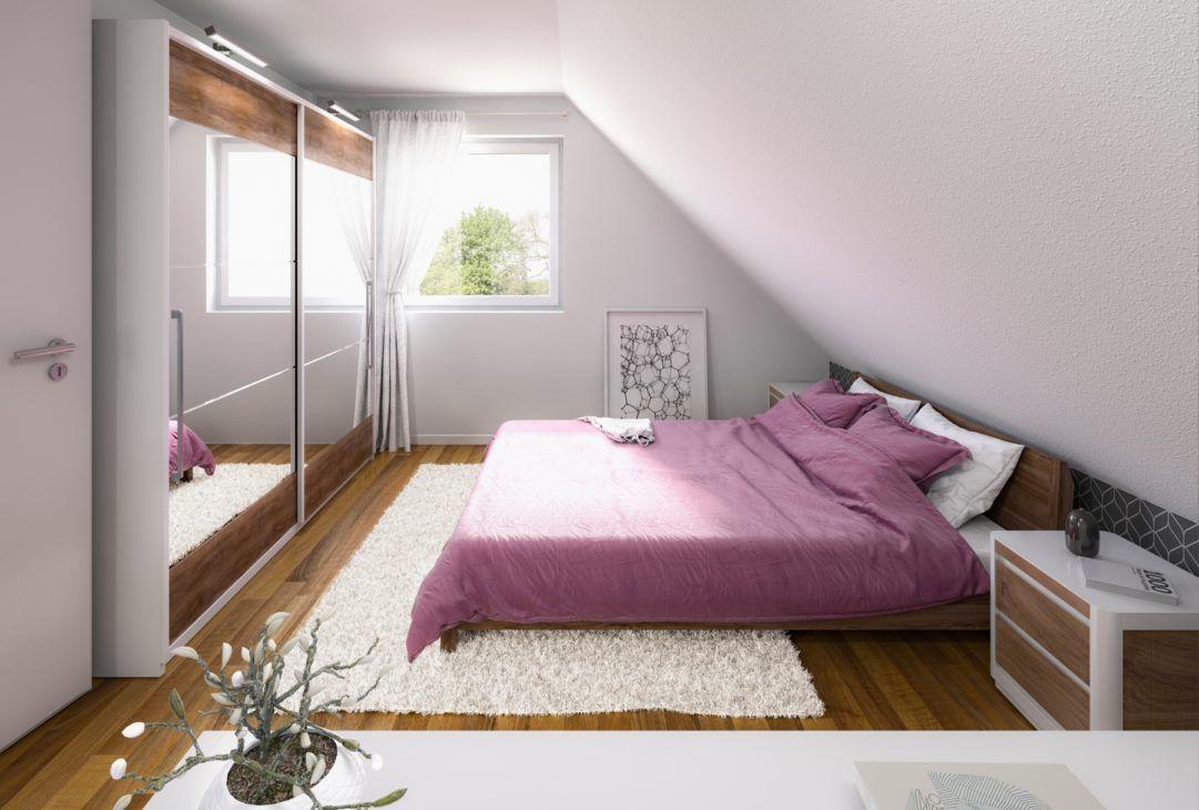 Schlafzimmer mit Dachschräge Einfamilienhaus