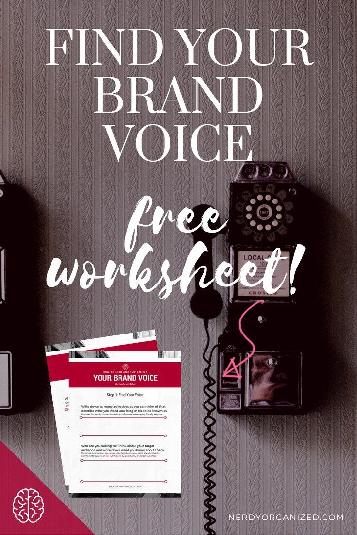 How To Find Your Biz Or Blog S Brand Voice Free Worksheets Brand Voice Branding Your Business Finding Yourself