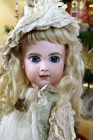 "Sold~Beautiful15"" E6J with Blue Spiral Threaded Eyes - Beautiful Bebes Antique Dolls #dollshopsunited"