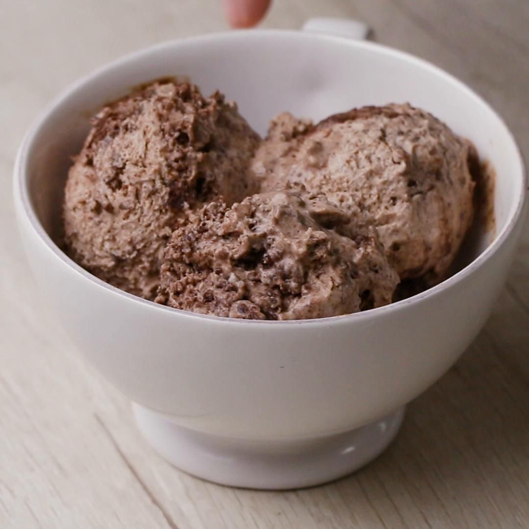 Here S What You Need Butter Egg Sugar Flour Cocoa Powder Dark Chocolate Sweetened Condensed Milk Heavy Cream Brownie Ice Cream Ice Cream Tasty