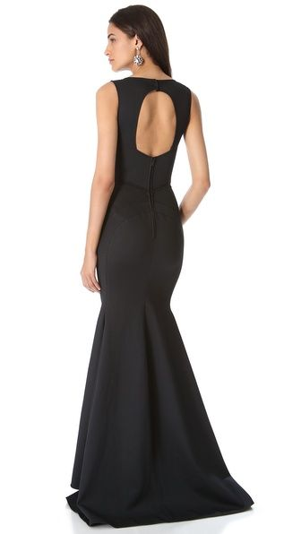 Zac Posen Sleeveless Mermaid Bustier Gown