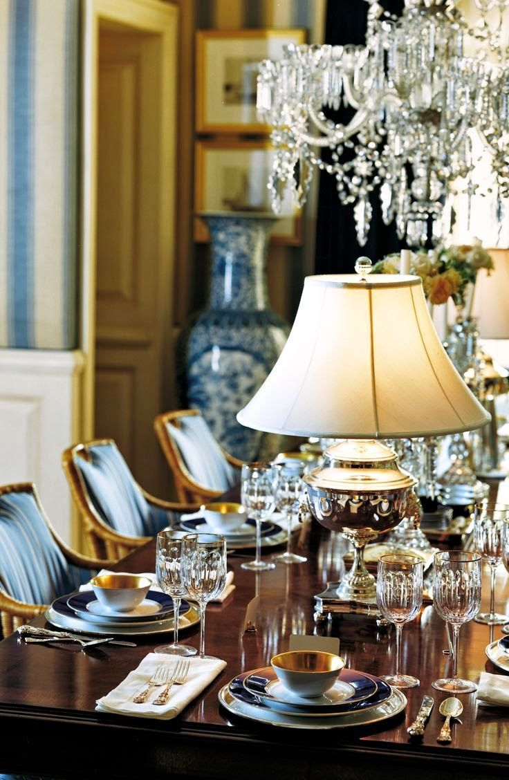 Formal dinner table decorations ralph lauren umorton hall collectionu a lamp on a dining table