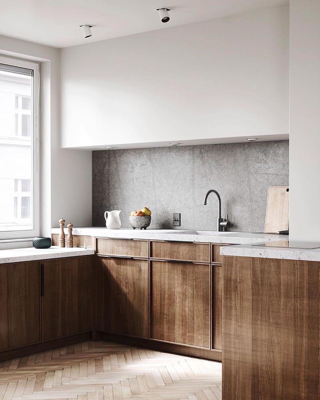 Idealna Kuchnia On Instagram Piekna Prosta Kuchnia Tez Sie Wam Podoba Czy Wieje Nuda Obse Kitchen Design House Interior Home Interior Design