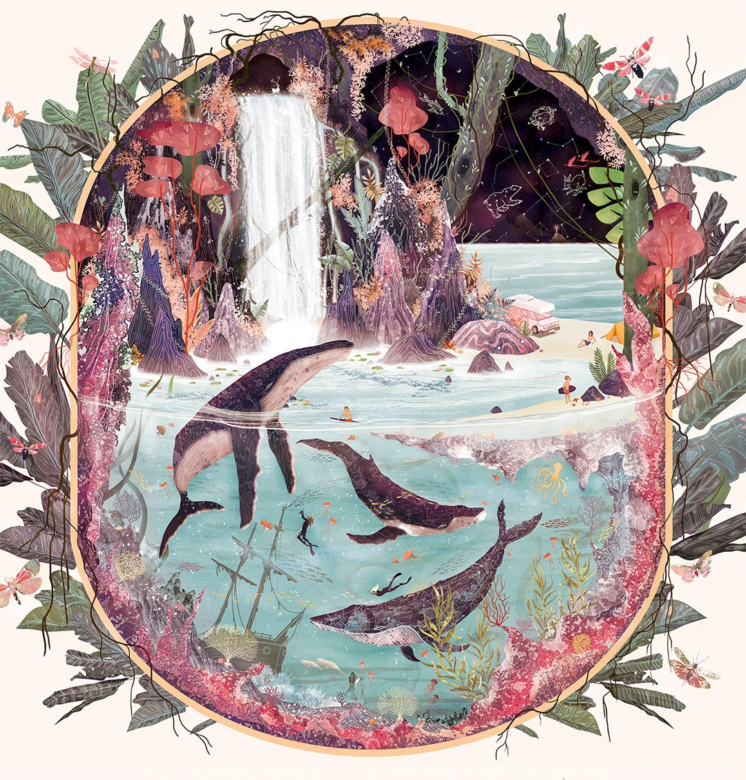 Les Splendeurs de la Nature dans les Illustrations surréalistes de Svabhu Kohli