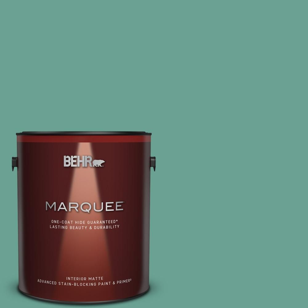 Behr Marquee 1 Gal T17 15 Jade Dragon Matte Interior Paint Primer 145401 The Home Depot In 2021 Behr Marquee Behr Marquee Paint Interior Paint