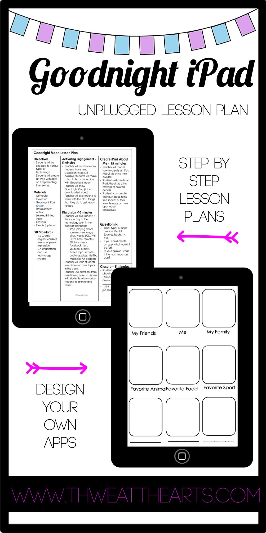 Goodnight iPad Unplugged Lesson Plan no tech required