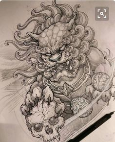52 Best Tattoo Design Drawings Foo Dog Tattoo Design Foo Dog Tattoo Tattoo Design Drawings