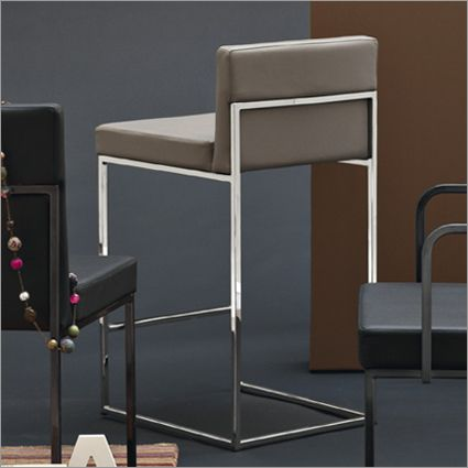 Calligaris Even Plus Barstool Leather By Stefano Cavazzana