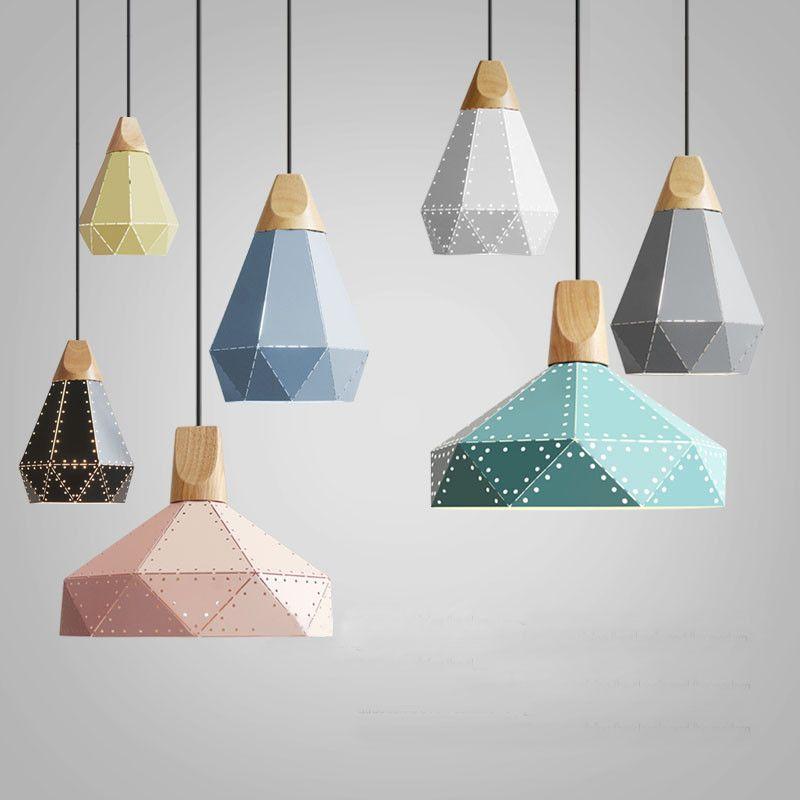 Nordic Loft Industrail Laser Cutting Home Pendant Lamps Lighting Modern Scandinavian Design Wood Hanging Light For Living Room0