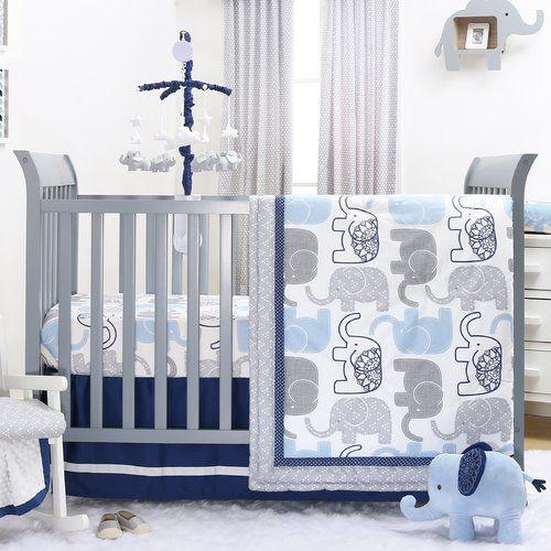 Found It At Wayfair 4 Piece Crib Bedding Set Boys Crib Bedding Sets Elephant Crib Bedding Crib Bedding Boy