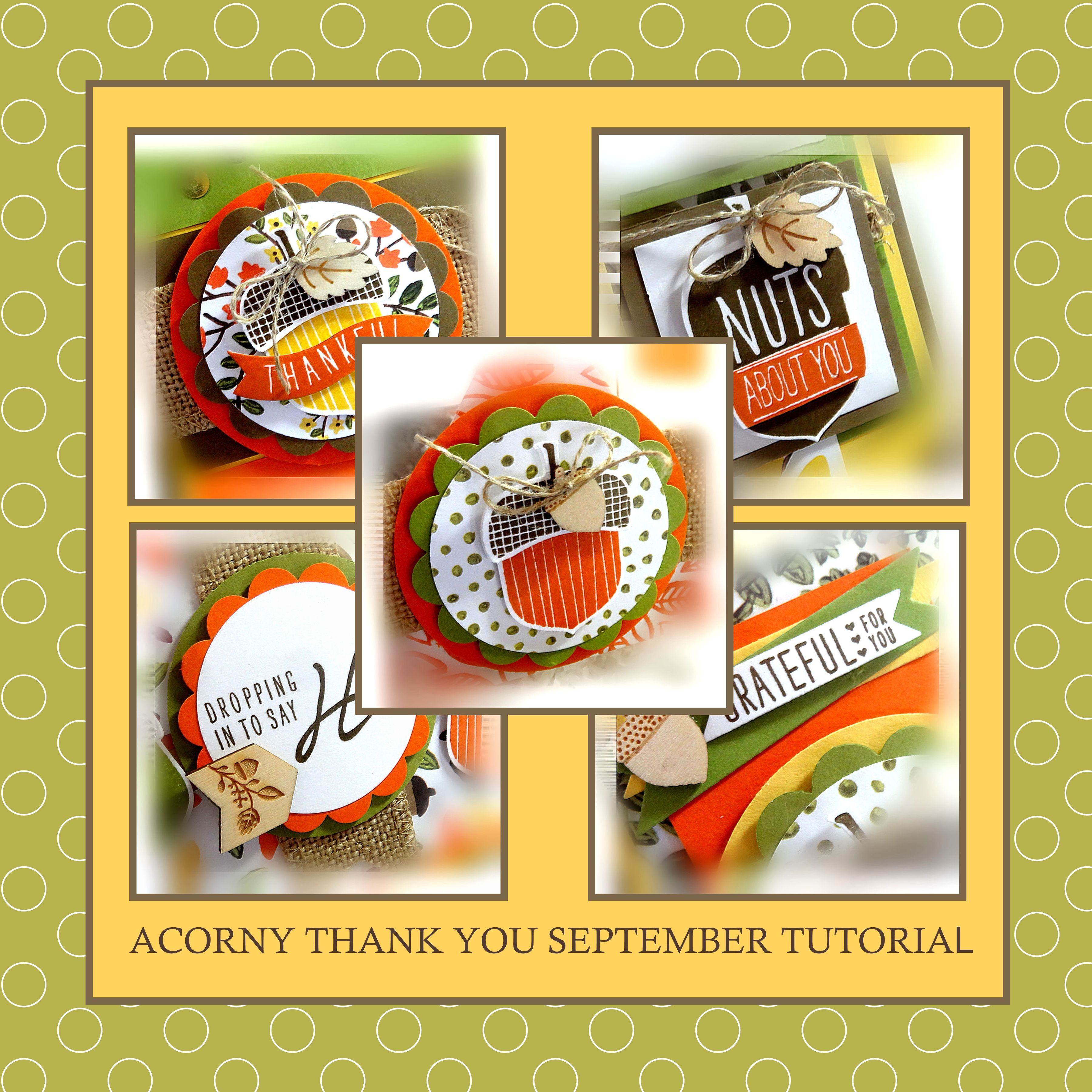 Acorny Thank You, Me, My Stamps and I, Stampin' Up
