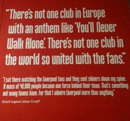 Johan Cruyff quote | Liverpool FC | Liverpool fans, Liverpool fc