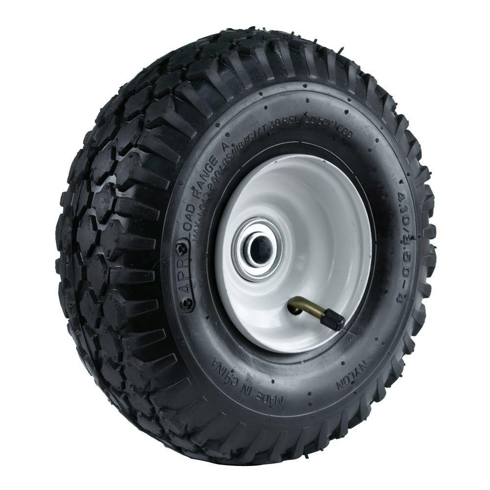 Martin Wheel 4 10 3 50 4 10 In Stud Tread Hand Truck Wheel With 2 1 4 In X 5 8 In Offset Hub Truck Wheels Mustang Wheels Trucks